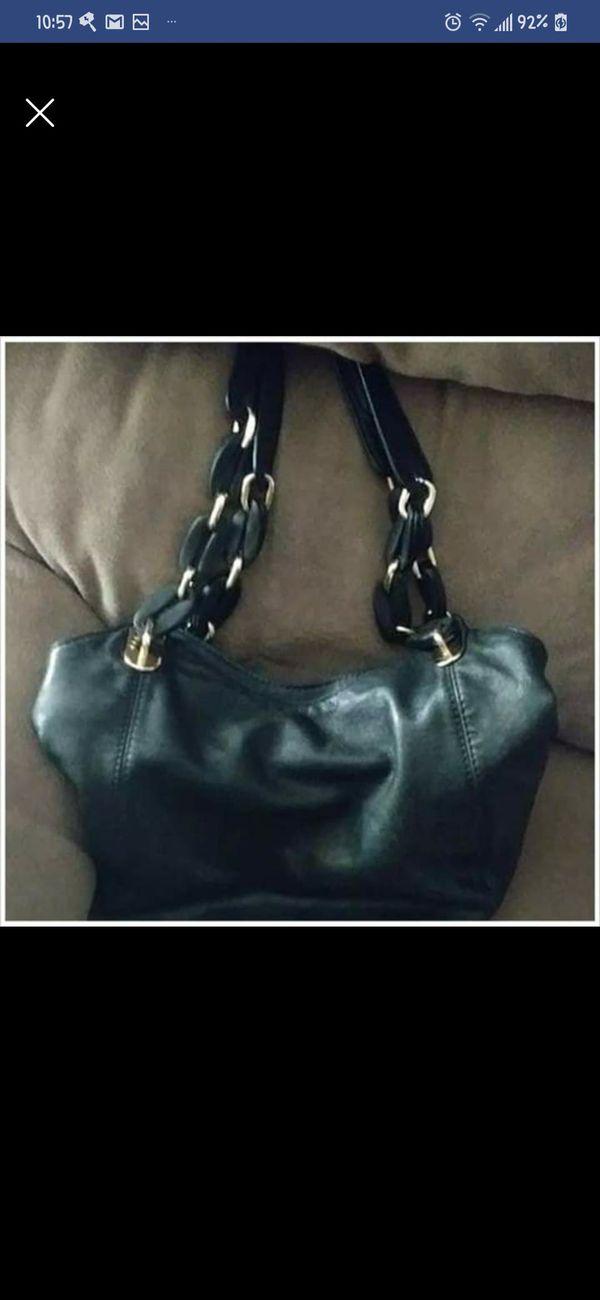 Michael Kors Black Leather Hobo Bag