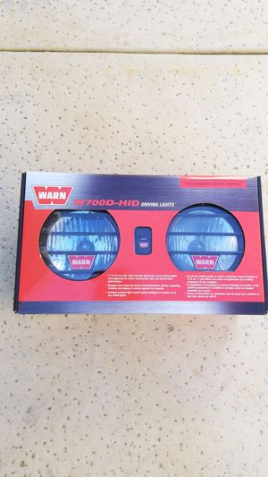 New in box Warn Winch HID driving lights for Sale in Tracy, CA