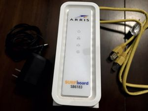 ARRIS - SURFboard 16 x 4 DOCSIS 3.0 Cable Modem Model SB6183 Approved for Cox, Spectrum, Xfinity & others (White) for Sale in Phoenix, AZ