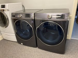 GREY SAMSUNG STEAM XL CAPACITY 7.0 WASHER AND 9.0 DRYER SET for Sale in Mint Hill, NC