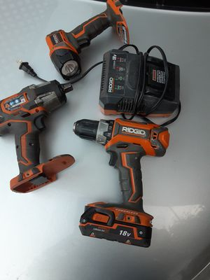RIDGID POWER TOOLS GOOD CONDITION for Sale in Santa Ana, CA