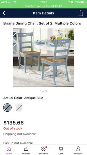 Briana wood chairs-Antique Blue-Set of 2 for Sale in Columbus, OH