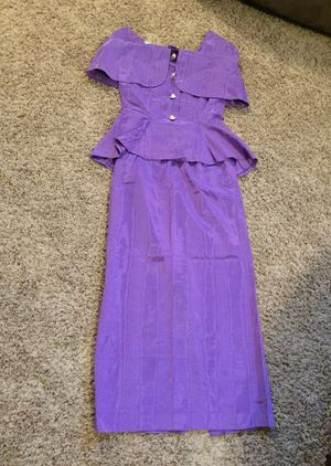 Formal dress purple size XS S Halloween costume for Sale in Tacoma, WA
