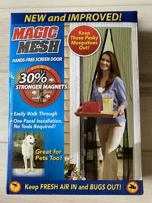 New Magic Mesh Screen Door for Sale in San Diego, CA