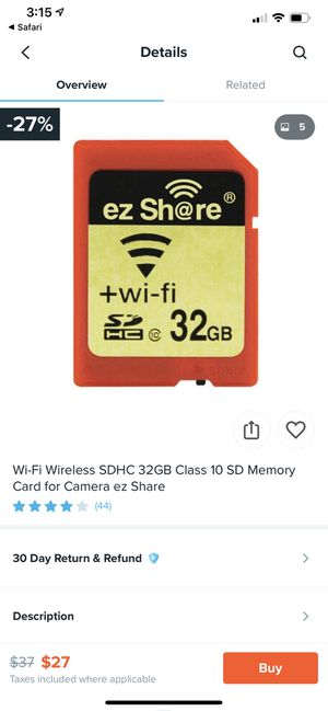 SD card WiFi adapter with 32gb for Nikon for Sale in Bakersfield, CA