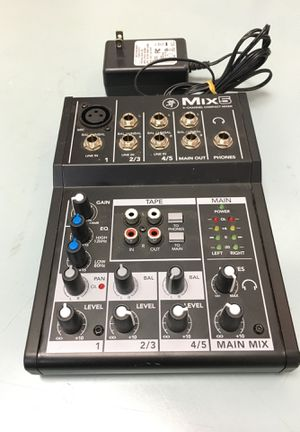 Mackie products mixer Mix 5 5-channel compact mixer pro audio recording live music BCP007380 for Sale in Huntington Beach, CA