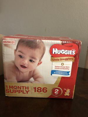 HUGGIES!! 1 month supply size two never opened. for Sale in Niederwald, TX