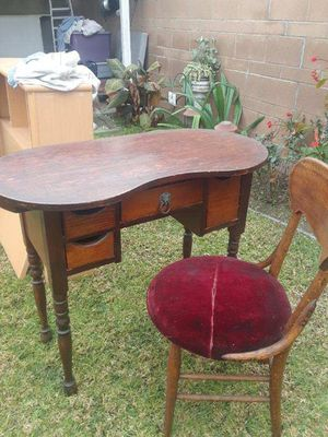 Antique Desk with Velvet Chair for Sale in Norwalk, CA