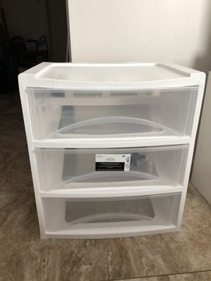 Plastic drawer cart for Sale in Fort Myers, FL