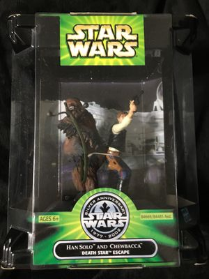 Hasbro 25th Anniversary Han Solo Chewbacca Death Star Escape Action Figure for Sale in Raleigh, NC