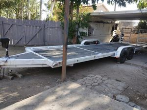 "Car hauler trailer cargo space 27'x6'10"" electric jack new brakes heavy duty started paperwork on it. Pti plates $2500 for Sale in Mentone, CA"