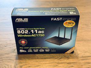 Asus RT-AC66U 802.11ac Dual-Band Wireless-AC1750 Gigabit Router for Sale in Lynnwood, WA