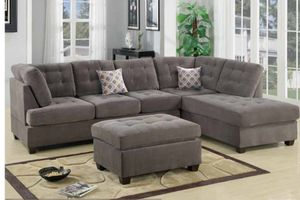 Sectional Sofa with FREE ottoman ($39 DOWN) for Sale in Bartow, FL