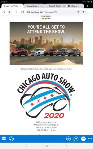 Chicago auto show tickets for Sale in North Riverside, IL