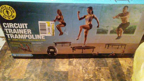 """Gold's gym circuit trainer trampoline 36"""" diameter with the adjustable legs"""