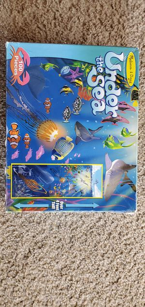 three Melissa and Doug giant floor puzzles- 4ft. long for Sale in Danvers, MA