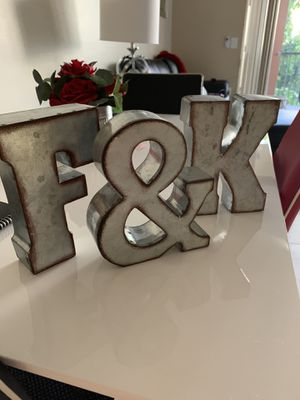 Metal letters for Sale in Miami, FL