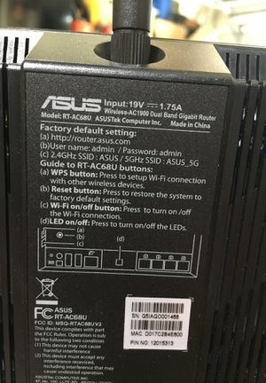 Asus /Ac 1900 Dual Band wi-Fi router/wilmington for Sale in Wilmington, CA