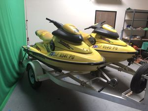 Seadoo GTX 1997 (#1-kevin) with twin trailer - Must Sell for Sale in Riverside, CA
