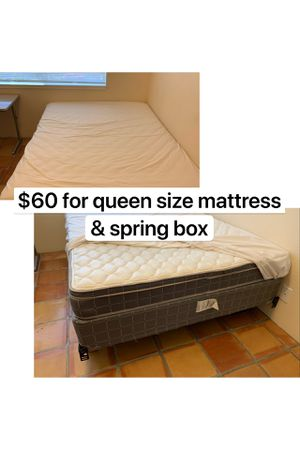 Queen size mattress and spring box for Sale in Monterey, CA