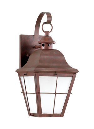 Exterior wall lamp with antique copper finish for Sale in Tempe, AZ