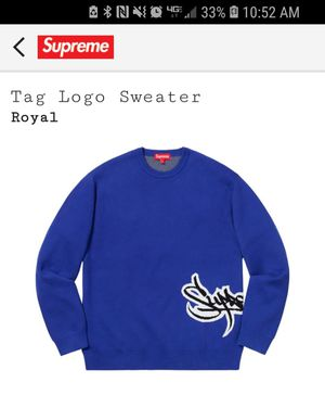 Supreme Crewneck Tag size Small Blue for Sale in Bayonne, NJ