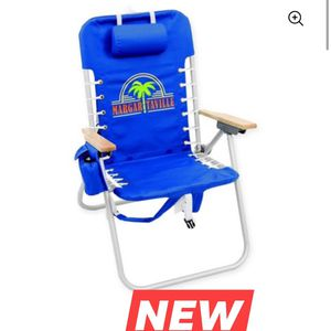 Margaritaville Hi-Boy Backpack Chair - Blue for Sale in San Antonio, TX