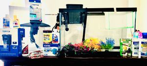 Ten (10)/One (1) Gallon Aquarium Fish Tank w/ Accessories, Food, Filter, Water Treatments, and Filters for Sale in Stafford, VA