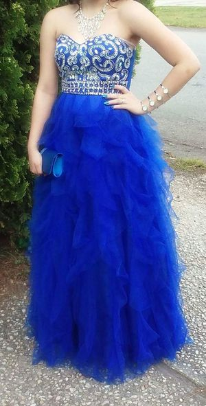 Blue and silver prom dress for Sale in Park City, KY
