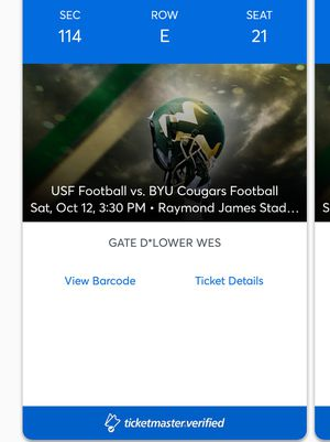 Four (4) USF vs. BYU football game tickets for Sale in Tampa, FL