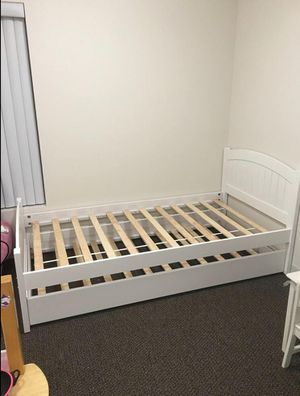 Brand New Twin Size Wood Trundle Bed Frame for Sale in Silver Spring, MD