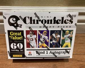 2020 NFL Panini Chronicles Draft Picks Factory Sealed Mega Box 60 Cards per Box for Sale in Buena Park, CA