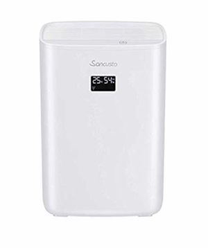 Sancusto Dehumidifier for Home, Portable Dehumidifier with 2.5L Water Tank and Air Purifier, LED Digital Indication, Auto Power Off Operation, for 22 for Sale in Springfield, VA