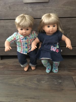 American girl bitty babies and stroller for Sale in Kingsburg, CA