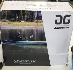 DG AQUAGLIDE NAVARRO 110 INFLATABLE KAYAK for Sale in Chicago, IL