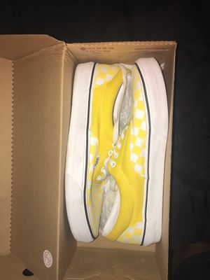 Yellow checkerboard vans size 9.5 for Sale in Surprise, AZ