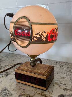 Vintage Coors Alarm Clock Desk Light Night Globe Adolf Coors Light Banquet Antique Man Cave Garage Night Stand for Sale in Yorba Linda,  CA
