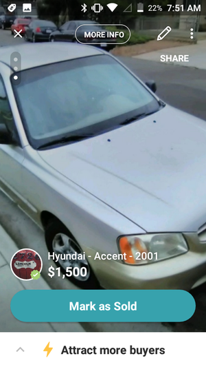 2001 Hyundai accent for Sale in National City, CA