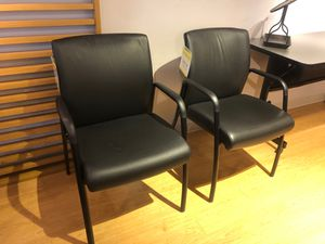 Leather guest office chair for Sale in SeaTac, WA