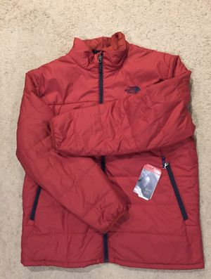 North Face / Insulated Puffy Rain Wind Coat Jacket / SIZE: Men's XX-Large / Brand New w/ Tags! / Burnt Orange (Brick) / Navy for Sale for sale  Kent, WA