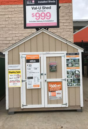 Sheds USA 8x10 Value Plus Shed Display now on sale at the Home Depot in Hempstead NY 11549 for Sale in Hempstead, NY