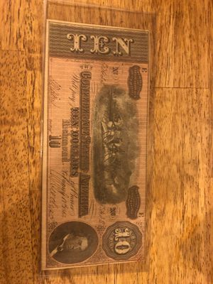 Confederate states of America 10$ Note for Sale in Kirksville, MO