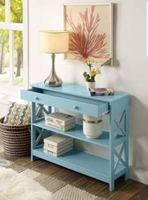 Console Table Living Dining Room Bedroom Entryway Hallway Side with Storage Drawer and Shelves New in Box for Sale in Wilkes-Barre, PA