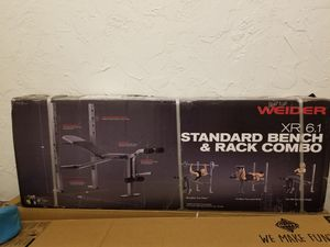 New Weider XR 6.1 Standard Bench and Rack Combo for Sale in Medford, MA
