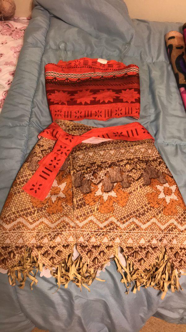 Disney Moana Costume - Dress Up Size 4-6x