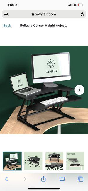 Bellavia Corner Height Adjustable Desk for Sale in Grand Prairie, TX