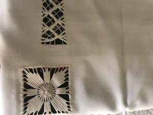 Vintage Madeira Cut work dresser scarf/ coffee table cloth for Sale in McLean, VA