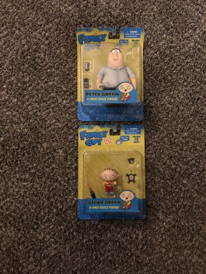 Family Guy Stewie and Peter Griffin Action Figures Brand new for Sale in Clovis, CA