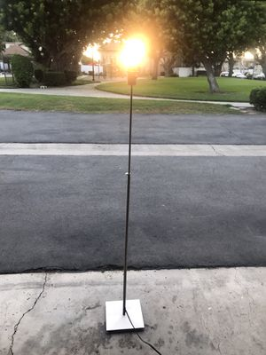 """Floor lamp - silver no shade - 55"""" for Sale in Huntington Beach, CA"""