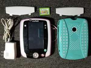 LeapFrog LeapPad 2 Tablet Purple w/ Stylus Case & Charger Learning Tablet & Game Bundle Kids Educational Portable Gaming Console for Sale in Tampa, FL